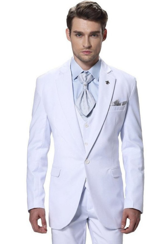 comprar novio del desgaste slim fit traje On traje novio blanco