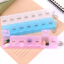 7 Days Pill Case Medicine Storage Tablet Box With Clip Lids Organizer Splitters Dispenser