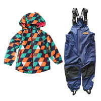 Free Shipping baby boys wind suit jacket & pants, waterproof suit, windproof clothing set, cool jacket + navy pants
