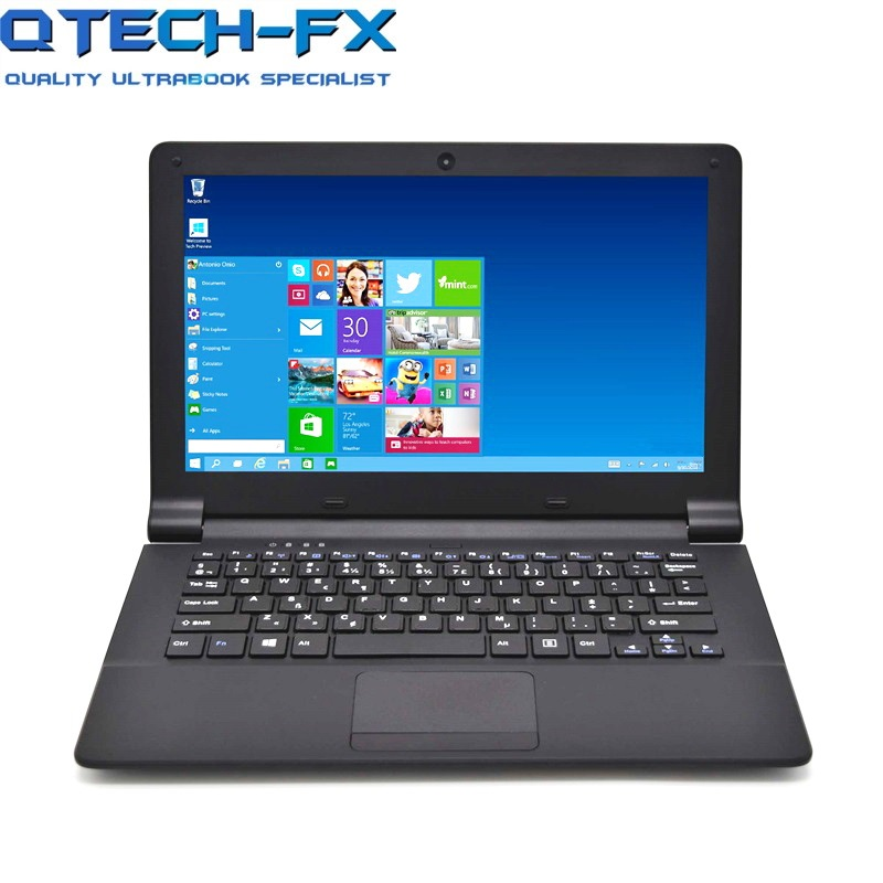 "12"" windows 10 laptop Fast 128GB SSD 4GB RAM intel Quad Core Business School  Computer Pink Black"