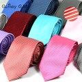 2016 Diseño Clásico de La Raya Delgado Corbatas Para Los Hombres de Moda Casual Para Hombre de Negocios Corbata Gravatas Corbata de Marca Para La Boda