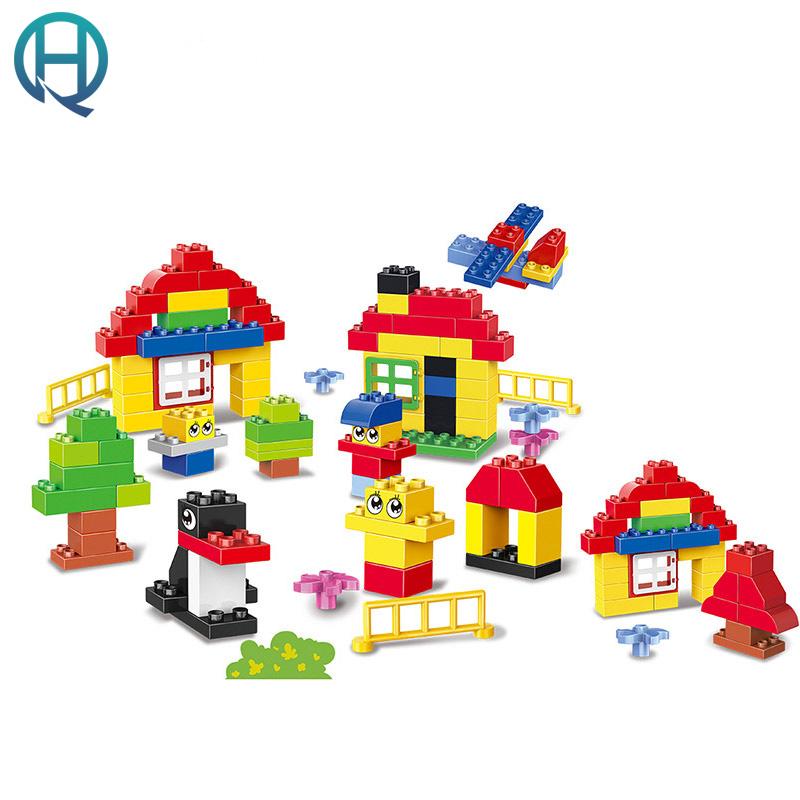 huimei montado patio diy modelo grande regalo del beb educativo de aprendizaje temprano bloques de construccin