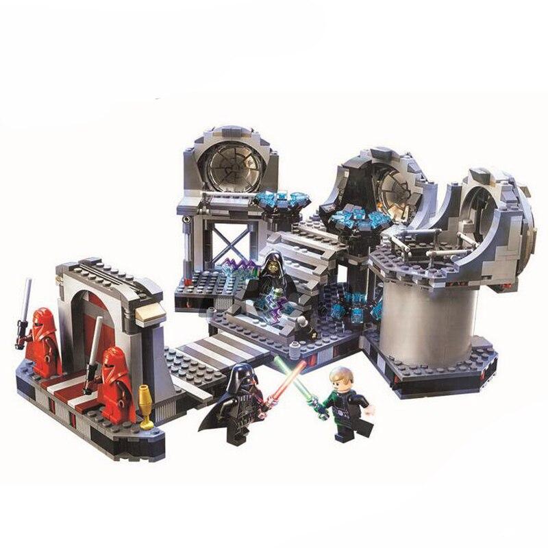 Compatible legoings Star Wars final duel Model building kits 75093 blocks Educational model building toys hobbies for children