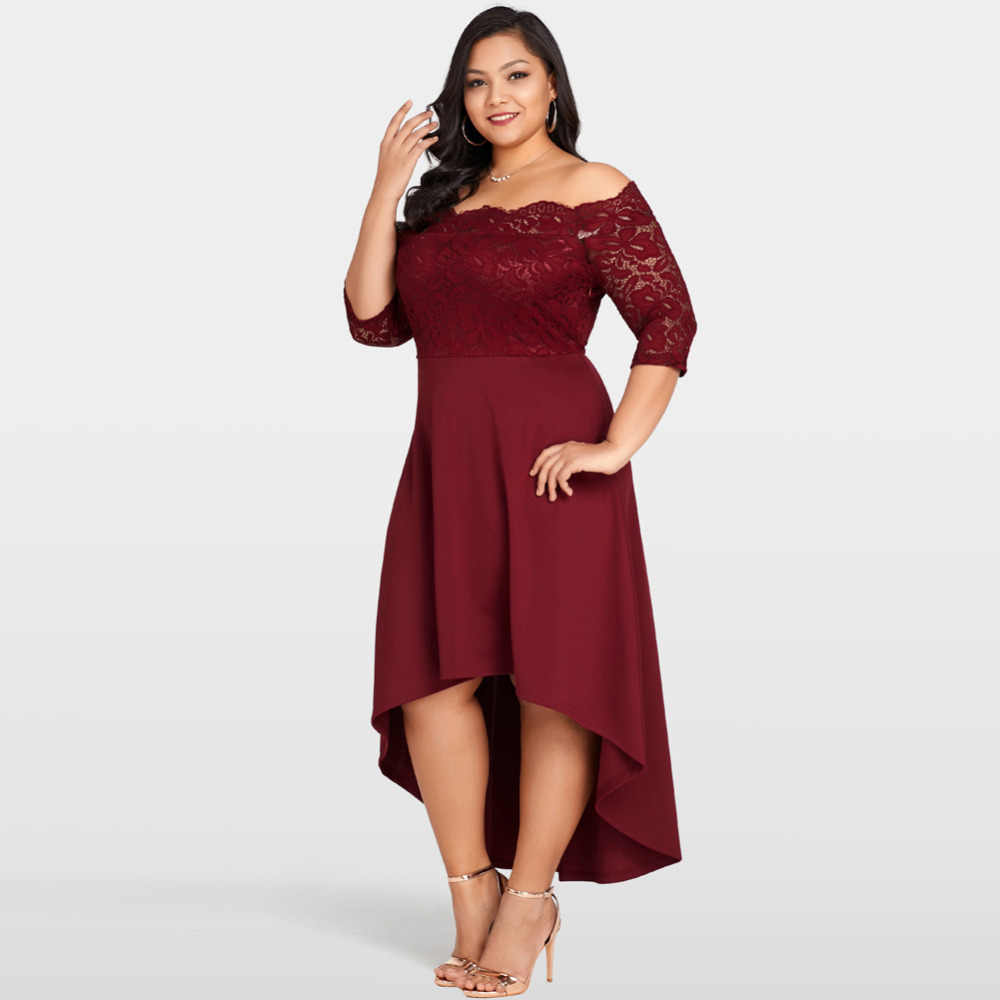 3cc8f5112b8 ... 2019 Summer 3XL 5XL Plus Size Lace Dress Women Off Shoulder Party Dress  female Nightclub Maxi ...