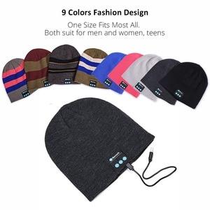 Image 3 - Bluetooth イヤホン音楽帽子冬ワイヤレスヘッドフォンキャップヘッドセットとマイクスポーツ帽子魅ソニー Xiaomi 電話ゲーミングヘッドセット