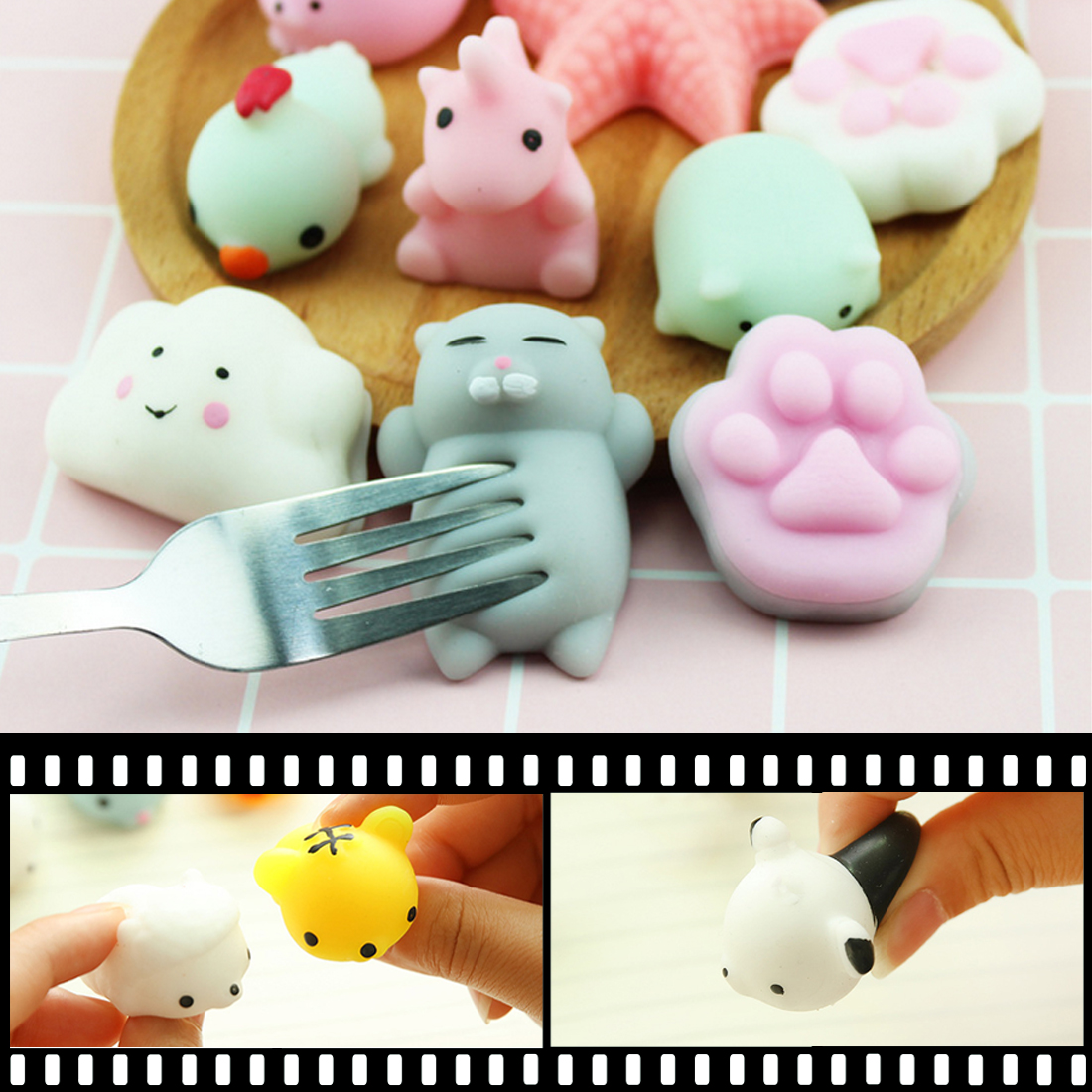 Confident Jetting Pig Ball Squishy Slow Rising Kawaii Mini Mochi Bunny Phone Strap Squeeze Stretchy Cute Pendant Bread Cake Kids Toy Gift Sale Price Mobile Phone Straps