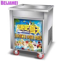 BEIJAMEI high effective big pan commercial fried yogurt ice cream rolls making machine Thailand frying ice maker