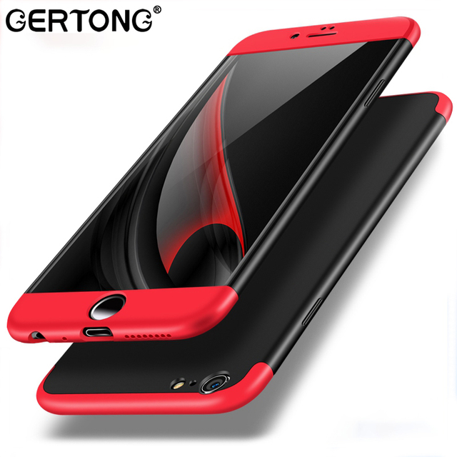 Luxury 360 Full Cover Case For iPhone 6 S 6S Plus 6Plus Hard PC 3 in 1 Armor Phone Case Back Protection Silky Fundas Conque Capa