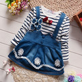 2017 kid dress baby girls causal stripe dress Infant clothes children flower dress cute baby clothing girls dress 1 2 3 4 years