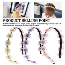 Girls  Flower Hair Bands Embroidery Sweet Hair Hoop Elastic Headband Hair Accessories For Festival Wedding Small Fresh цены онлайн