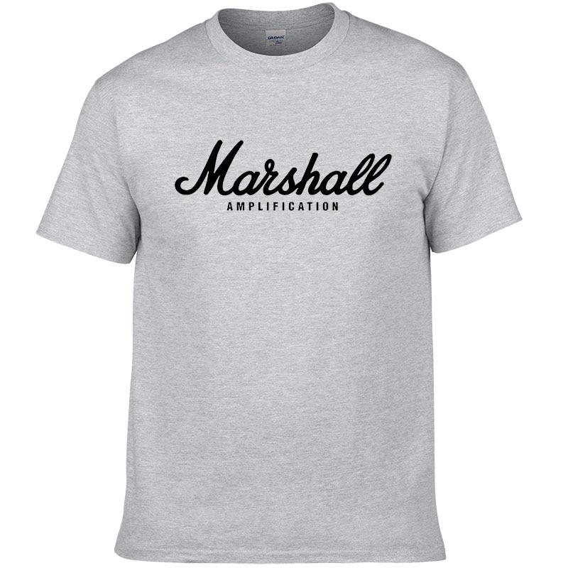 2017 hot sale summer 100 cotton Marshall t shirt men short sleeves tee hip hop streetwear