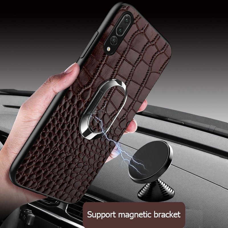 LANGSIDI Full Grain Leather Cases for Huawei P20 Pro P30 Pro Mate 20 10 9 20Pro Honor 8X Max V20 Cover Fundas phone Case 2019 in Fitted Cases from Cellphones Telecommunications
