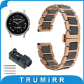 22mm de cerámica venda de reloj para el vector luna/meridian butterfly hebilla de Correa de Pulsera Pulsera de La Correa Negro Rosa De Oro Blanco + herramienta