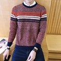 2016 European And American new autumn and winter Classic Men's Sweaters, Round Neck Sweater Men, Slim Male Sweaters