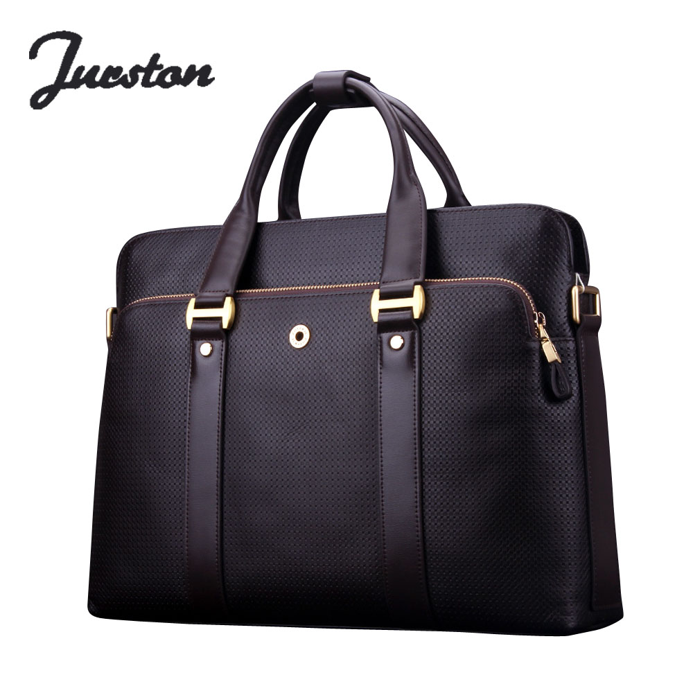 Wire man bag commercial genuine leather bag handbag male first layer of cowhide briefcase horizontal tote bag