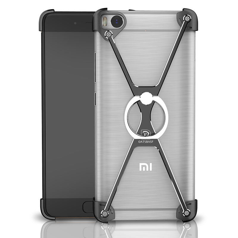 imágenes para Marco de Metal Anillo de Parachoques Para Xiaomi mi5 mi5s mi 5 5S Plus Caja de Lujo Del Soporte de la Cubierta de Aluminio A Prueba de Golpes Armor Shell