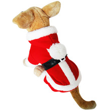 Classic Santa Claus Style Dog Coat Warm Pet Clothes Christmas Clothing dog clothes overalls for dogs hot sale Free shipping