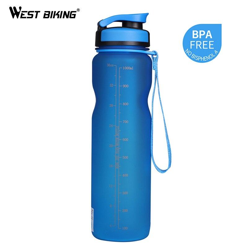 WEST BIKING 1000ML BPA FREE Bicycle Water Bottle Bike Bottles Filter Portable Kettle Leak-Proof Cup Sport Cycling Drink Bottle