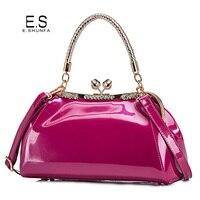 Elegant Ladies Handbags Shoulder Bags 2018 New Fashion Design Diamonds Tote Bag Women Casual Patent Leather Handbag High Quality