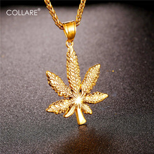 Collare Maple Leaf Pendant Hippie Gold Color Stainless Steel Streetwear Men Jewelry Canada Maple Leaf Necklace Women P202(China)