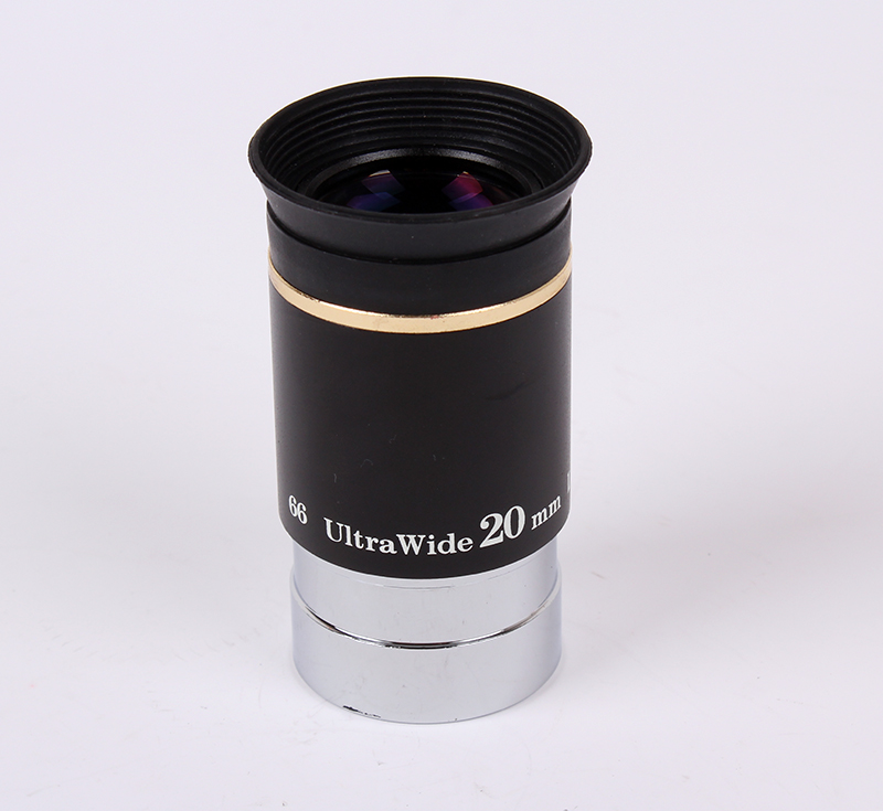 1.25 inch 66-degree Ultrawide 20mm Eyepiece for Astronomy Telescopes