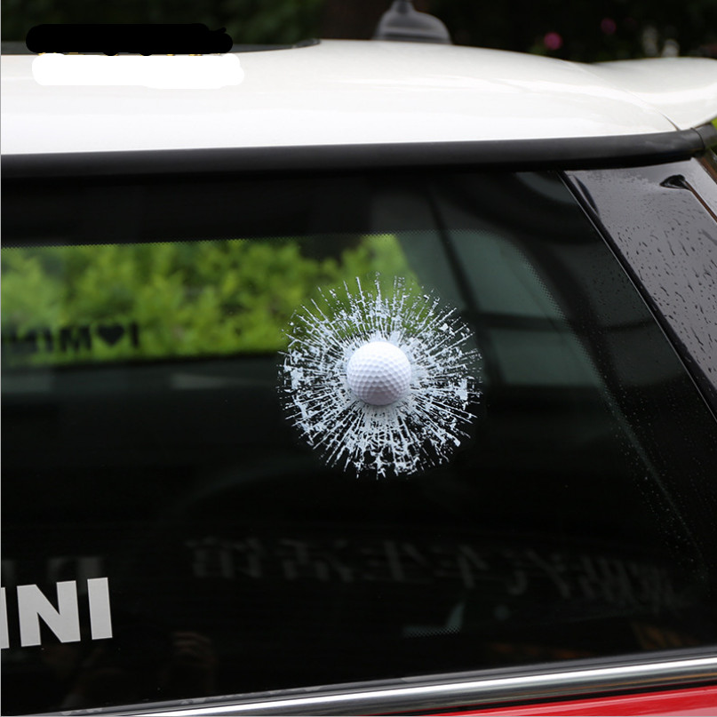 KAWOO Car Styling Cool Car Decal Stickers D Golfball Design PVC - Cool car window stickers