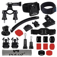 PULUZ 24 In 1 Bike Mount Accessories Helmet Strap Extension Arm Quick Release Buckles Surface Mounts