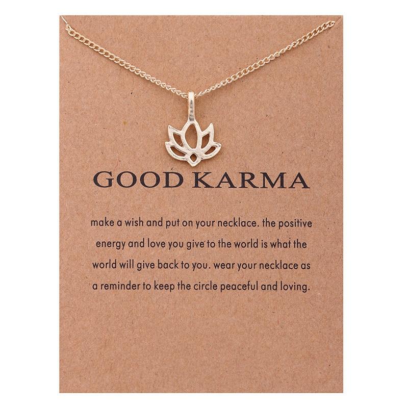 Fashion Jewelry Good Karma Happy Lotus Choker Necklace