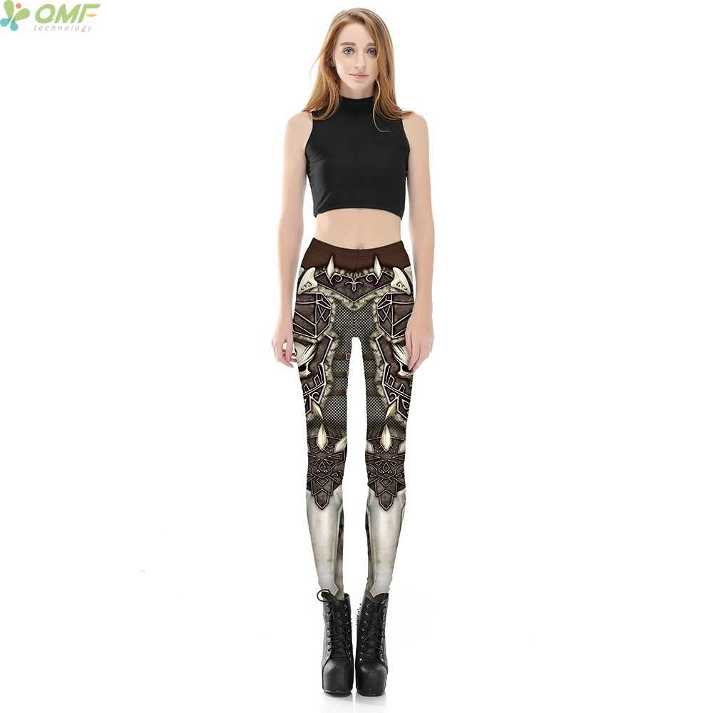 4c1bb063e1e505 ... 3d Print BARBARIAN Women Fitness Yoga Leggings Cosplay Skull Armour  Skinny Trousers WOW Sylvanas Windrunner Sports ...