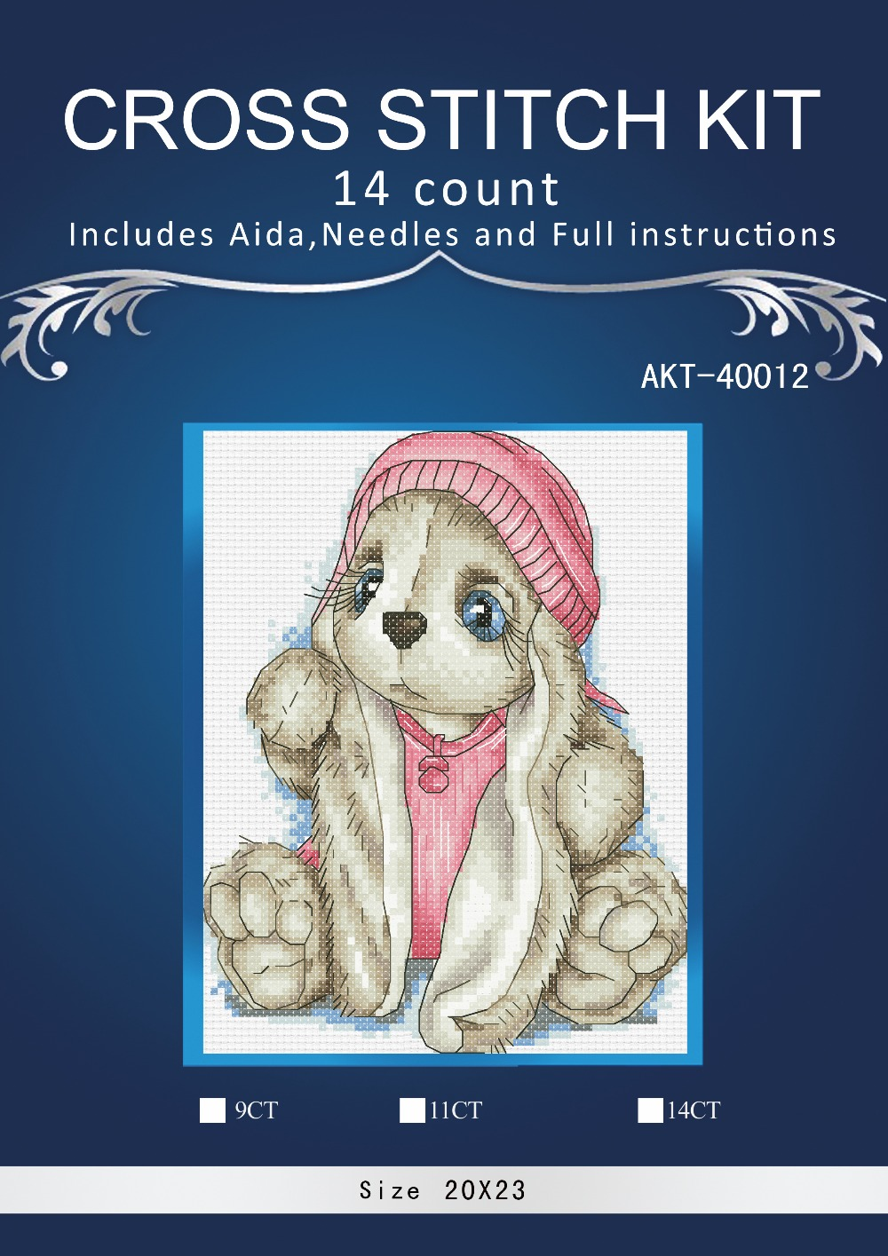 Needlework,DIY Cross Stitch,Sets For Embroidery kits,14CT ,Christmas little rabbit 2 1th