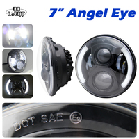 7 Round Daytime Running Lights 50W 30W H4 High Low Beam Car Led Drl With Led