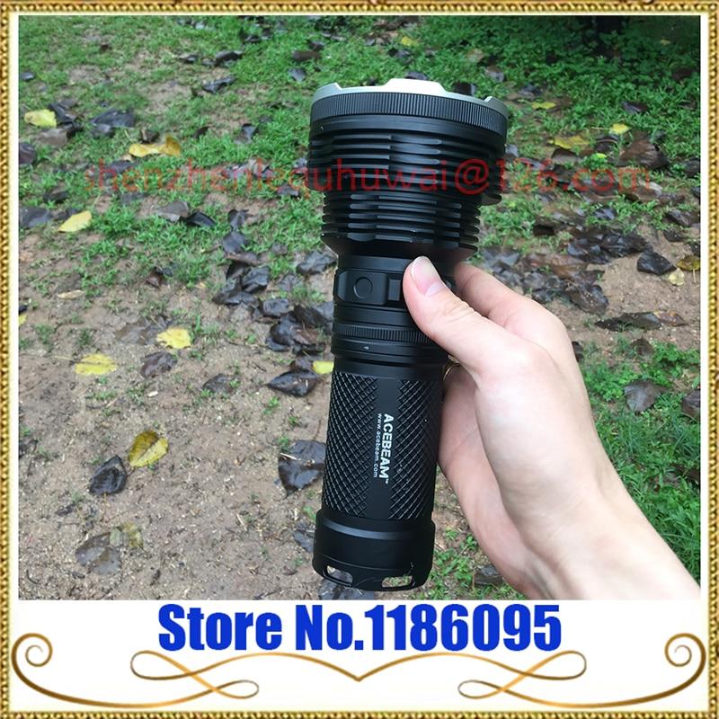 ACEBeam K70 CREE XHP35 Hi LED Flashlight Use 4x 18650 Battery 2600lumens Throw 1300meters