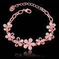 Opal Jewelry Creative Flower Rose Gold Plate Bracelet
