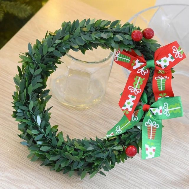 20cm christmas decorations bowknot garland christmas tree wall decorations