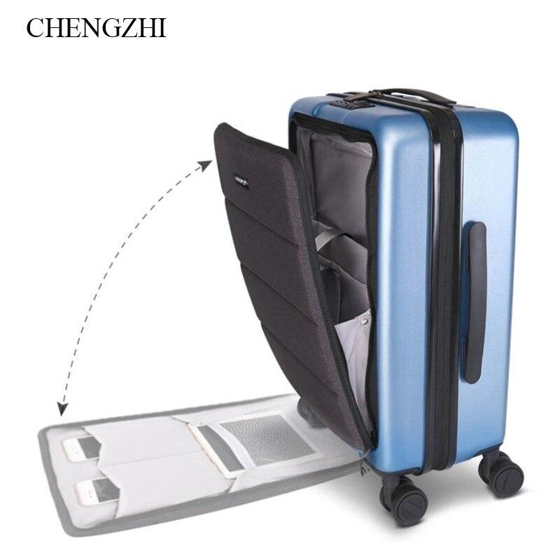 MüHsam Chengzhi 18 20 Zoll Spinner Tragen Auf Hand Gepäck Männer Business Reise Koffer Laptop Trolley Tasche Auf Rädern Attraktiv Und Langlebig Gepäck & Reisetaschen