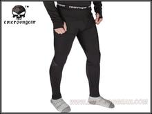 Emerson Zip version Breathable Warm Underwear Thermal underwear against winter velvet ware Pants EM6809 black