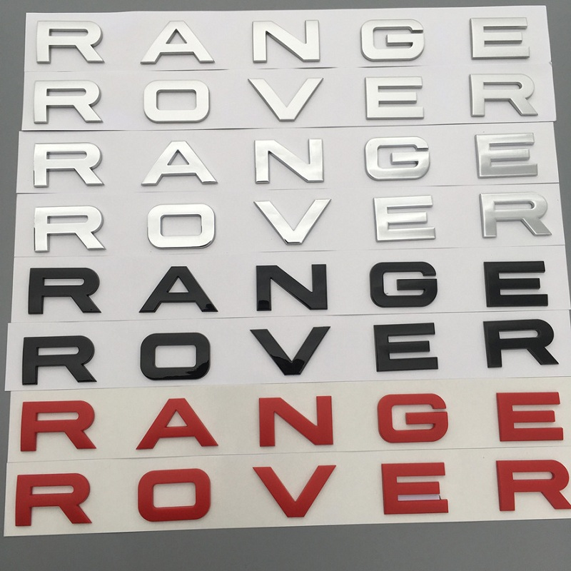 Car Styling Front Or Back Car Emblem Cover Sticker Letters Sports Style Case accessories for Range Rover sport evoque discovery стоимость