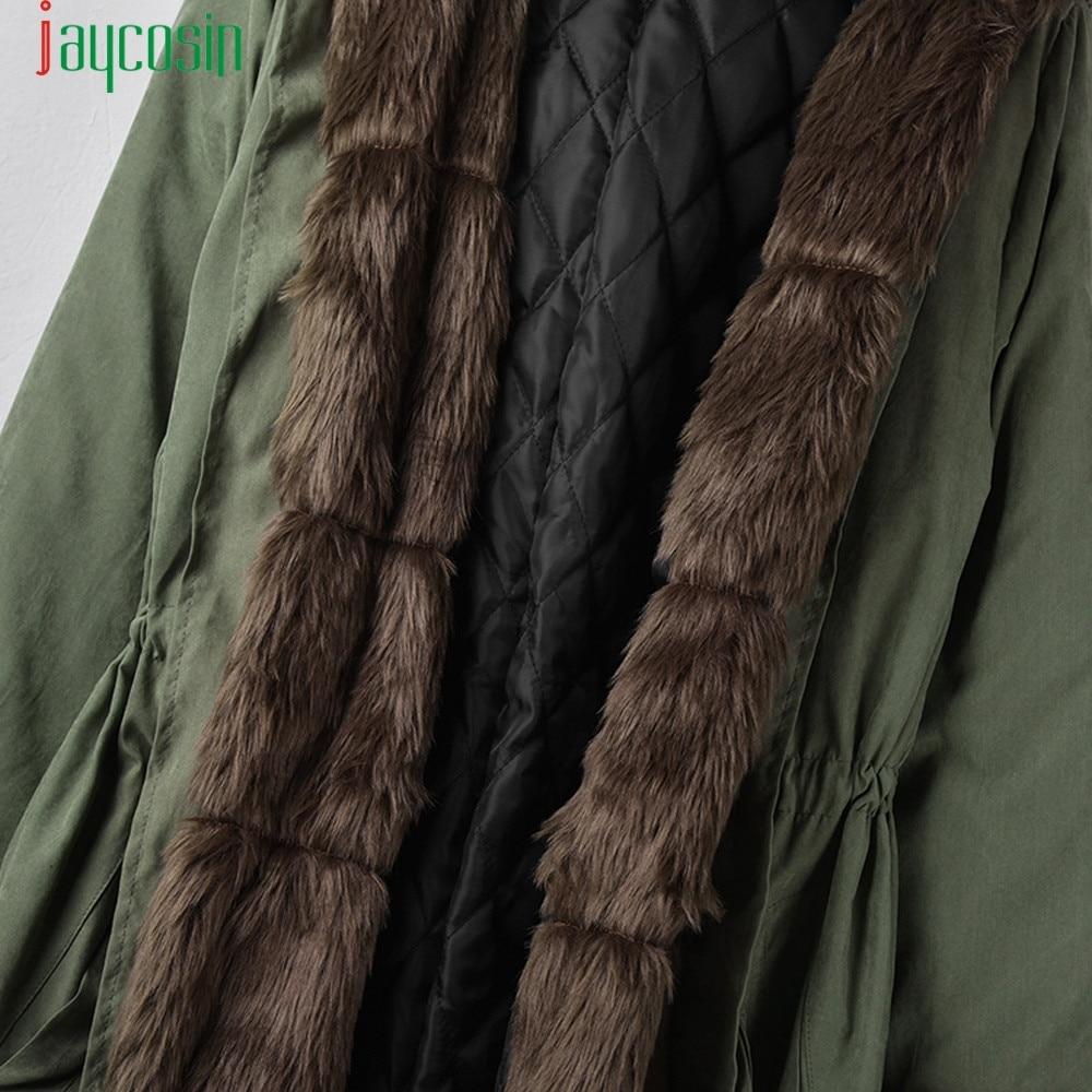 Capuchon Armée Coton i e Chaud Veste c d f Outwear N Jaycosin Plus De Taille b 2018 Vert Luxe Femelle Col À La A g Fourrure Mode Long Polaire h z4aqd