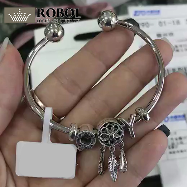 ROBOL 100%925 Sterling Silver New 1:1 Meticulous To Pack Genuine Fashion Charm Bracelet Gift, Contact The Seller Has Video free shipping bko c2457 h01 no new old components sensor module can directly buy or contact the seller