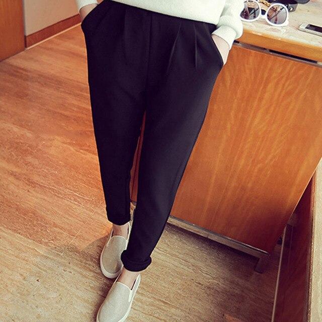 Women harem pants ankle-length pants 2017 spring and autumn female black trousers plus size loose fashion 4XL 5XL hot sale