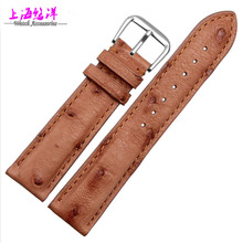 Ostrich Skin Leather Watchband rare natural 1618 20mm soft and comfortable watch accessories