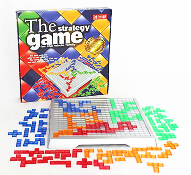 [TOP] Original TOP Tetris Blokus 4 Player English Strategy Board Game Fun Family Parent-child Interactive Puzzle Toy Kids Gift