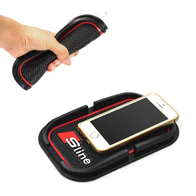 S line Car-styling Mobile Phone holder Anti-Slip sticker For audi a4 a5 a6 b5 b6 b7 q3 q5 q7 rs quattro sline c5 c6 tt a3 a7 Mat car caps baseball cap for audi sline quattro a1 a4 b6 b8 a3 a5 a6 c5 q3 q7 q5 tt b5 b6 b7 q3 q5 q7 rs quattro s line c5 c6 hats