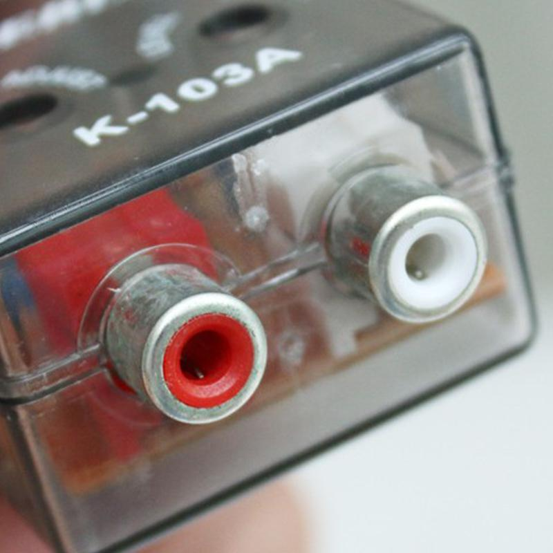 12V RCA Linie Auto Stereo Radio Wandler Lautsprecher Hohe Zu Niedrigen Verstärker subwoofer auto audio som automotivo subwoofer verstärker