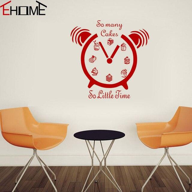 Tanti Torte So Little Time Wall Stickers Orologio Stencil Per Le ...