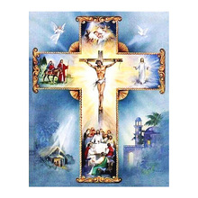 Diamond Painting Diy Religious  Embroidery Christian Cross Jesus Christ Mbroidered Stitch Home Decoration Gift
