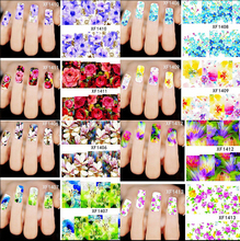 XF1372-1421 50Sheets=1Lot Water Transfer Nail Stickers Symphony 50Pattern DIY Nail Art Sticker Decals Accessories Water Stickers yzwle 1 sheet diy designer water transfer nails art sticker nail water decals nail stickers accessories yzw 8109