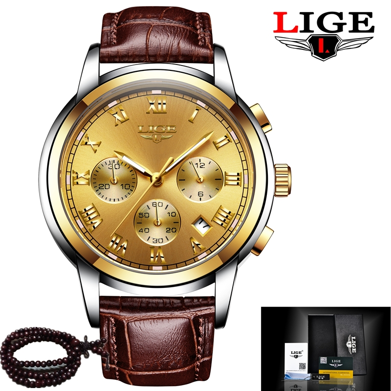 2017 LIGE Luxury Brand Watch Chronograph Sport Men Watches Fashion Military Waterproof Quartz Watch Man Clock Relogio Masculino weide popular brand new fashion digital led watch men waterproof sport watches man white dial stainless steel relogio masculino