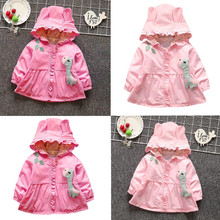 Kids Tales Autumn Winter Baby Girls Boys Jacket Warm Hooded