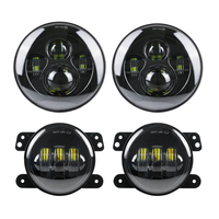 DOT Approved 7 Black Daymaker LED Headlights 2pcs 4 Inch LED Fog Light Bumper For Jeep